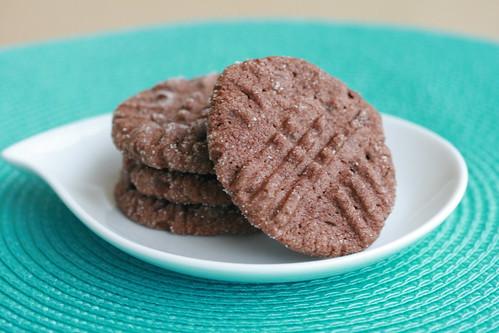 Cocoa Peanut Butter Crisscross Cookies