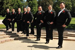 They've Got A Little Captain In Them... (A.R. Bianchi) Tags: wedding groom stjohn il tuxedo captain rosary tuxes winfield groomsmen weddingday tux captainmorgan