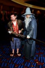 Frodo and Gandolf (D*Con Blue) Tags: dc lotr lordoftherings frodo tolkien dragoncon thecon topaz gandolf adjust tolkein denoise remask