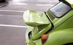 Wannabe Porsche (Ilya.Bur) Tags: camera color classic car vw analog 35mm vintage bug volkswagen kodak beetle fsu rangefinder 200 maggiolone fusca kiev4 kafer helios103