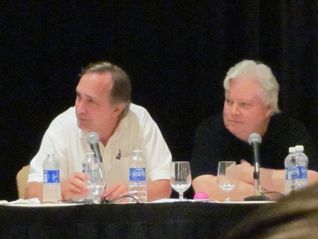 Trace Beaulieu and Frank Conniff from Mystery Science Theater 3000 at Nuts on the Road: The Quiz Show at Dragon*Con 2010