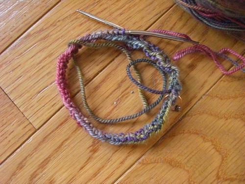 Rainbow Childs Socks in Miranda Pattern