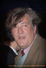 Stephen Fry (iron_smyth48) Tags: red portrait people white man celebrity english film smile face shirt hair carpet nose star eyes teeth tie jacket comedian actor jumper writer premiere director celeb journalist