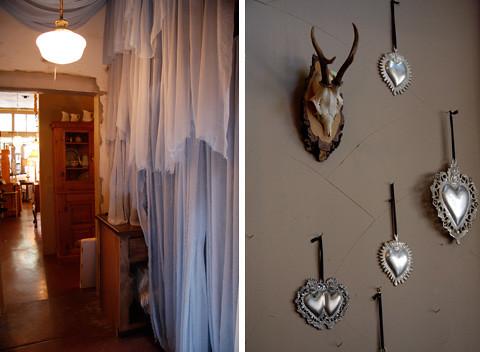 curtain, horns