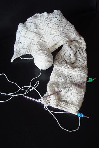 Sampler scarf