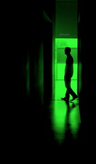 Silhouette in green (jackfre2 (on a trip-voyage-reis-reise)) Tags: light man reflection green shadows perspective greenman bestcapturesaoi tripleniceshot mygearandmepremium mygearandmebronze mygearandmesilver mygearandmegold dblringexcellence