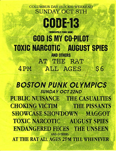 Boston Punk Olympics  - October 22nd
