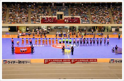 シュライカー大阪 vs 府中アスレチックス_試合前@Fリーグ・セントラル開催_201008
