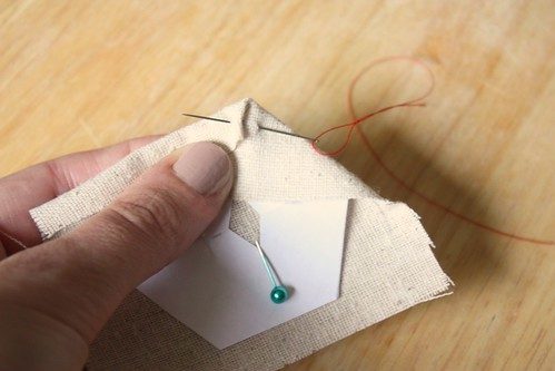 Step 10: Sew Through Overlap of Fabric
