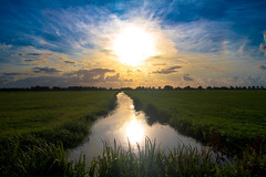 dutch sunny landscape (drbob97) Tags: blue sky sun reflection water netherlands dutch canon landscape zonsondergang utrecht meadow wolken sunny stunning lucht aa sunbeams weiland shinning ter drbob ondergang 40d mygearandmepremium mygearandmebronze mygearandmesilver mygearandmegold mygearandmeplatinum mygearandmediamond drbob97