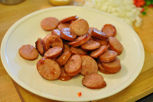browned sausage
