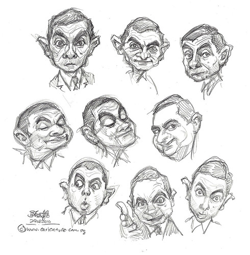 thumbnail sketches of Mr Bean