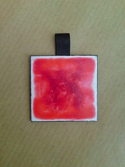 Red & white pendant