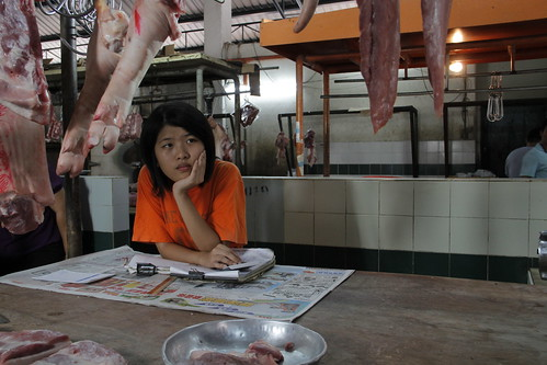 [INHALATION] Mei (Susan Lee Fong Zhi) musing in a butcher shop