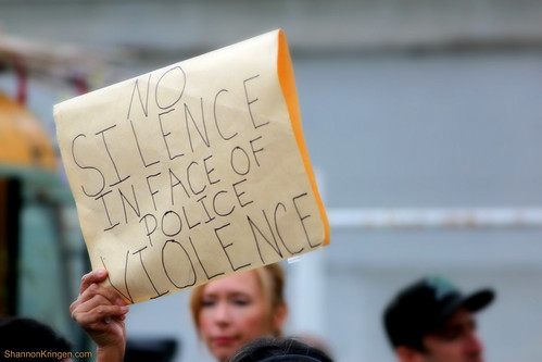 no silence in face of police violence