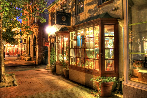 Georgetown store by night