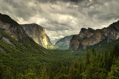 Stormy Skies from Tunnel View, Yosemite National Park (andrew c mace) Tags: storm clouds nationalpark cloudy tokina1224 stormy september valley yosemite halfdome yosemitenationalpark elcapitan yosemitevalley cloudsrest cathedralrocks tunnelview bridalveilfall photomatix blendedexposures colorefex nikoncapturenx nikond90
