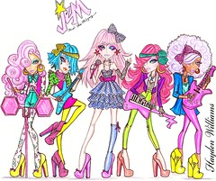 Jem & The Holograms 2010 2nd Edition: 'Totally Outrageous!' album chart position #4 (Fashion_Luva) Tags: fashion illustration williams hayden shana jem raya kimber aja outrageous totally misfits comeback hasbro 2010 holograms
