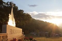 Sunday Morning (FranciscanUniversity) Tags: morning ohio sky sun sunrise entrance front sunburst rays rise sunrays steubenville mainentrance frontentrance franciscanuniversity ohiovalley newsign