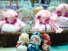 Bonequinhas (Fuxico de Chita) Tags: de flor artesanal fuxico feltro boneca tecido aplicação sacola ecológica sachê