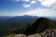 ウペペサンケ山へ続く稜線