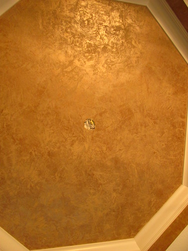 For this ceiling faux finish