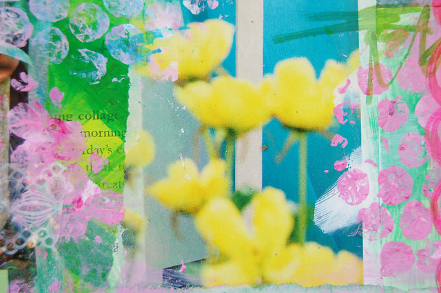 Yellow tulips in a blurr