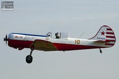 G-BTZB - 801810 - Aerostars Team - Yakovlev Yak-50 - Duxford - 100905 - Steven Gray - IMG_8167