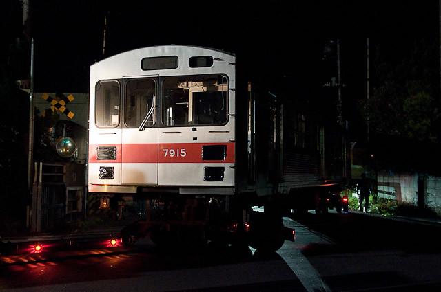 東急電鉄7700系クハ7915 廃車陸送