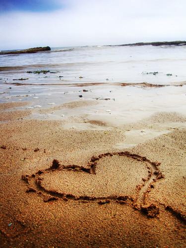フリー写真素材, 自然・風景, ビーチ・砂浜, ハート,