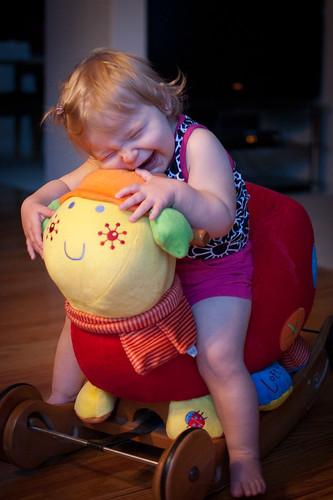 Loves her some ladybug