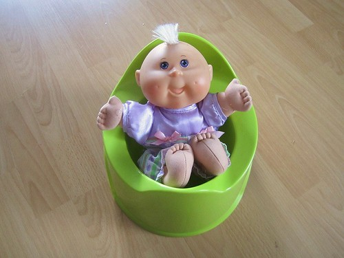 Doll on potty