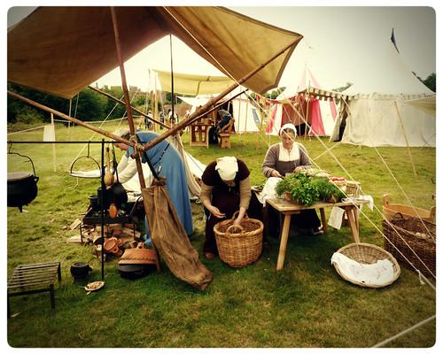 Herstmonceux Medieval Festival ~ preparing dinner