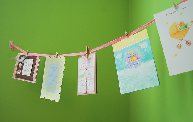 Baby Shower Cards as decoration