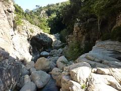 Entre le point 620m et la confluence Calva : la gorge au-dessus de la cascade de 15m