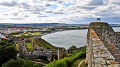 Looking Like A Beautiful Day.... (Chris H#) Tags: sea sky castle clouds bay coast steps elbow ramparts scarborough walls beacon northyorkshire scarboroughcastle s3000 lookinglikeabeautifulday nikond5000