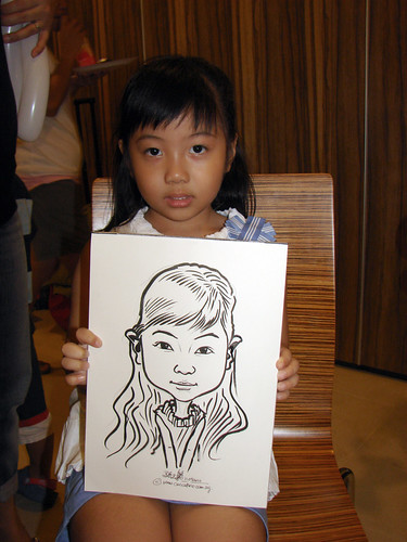 Caricature live sketching for birthday party 11092010 - 3