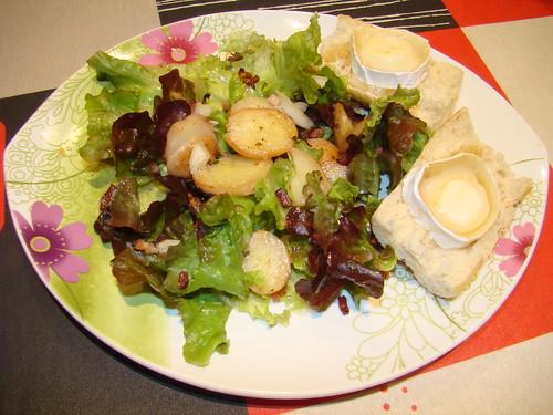 Salade d'automne au chèvre