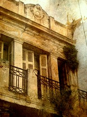 Tunisian Balcony (Kurlylox1) Tags: old plants architecture doors tunisia balcony tunis romantic railing