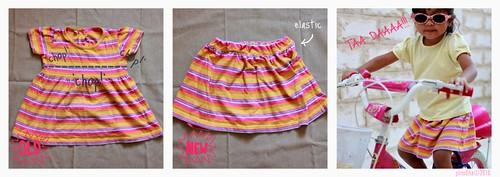 (Reuse...Redesign...REFASHION) stripey skirt