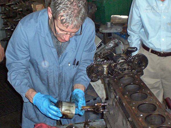 XK Engine Teardown: Piston Examination