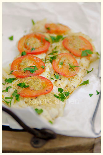 Cod with Pesto and Tomato