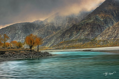 Emotions (M Atif Saeed) Tags: autumn pakistan sunset reflection fall nature water weather landscape bad areas northern northernareas skardu atifsaeed gettyimagespakistanq1