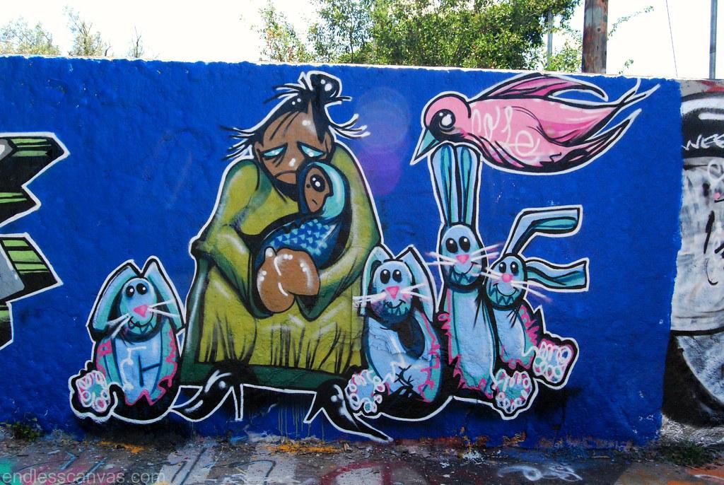 COLE Graffiti Bunnies in Boulder Colorado.