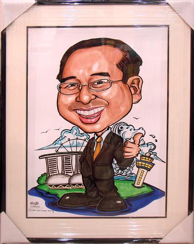 Caricature for Bank of Tokyo Mitsubishi UFJ