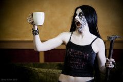 Death Before Decaf (exoskeletoncabaret) Tags: homes black silly coffee metal gardens death funny humorous extreme makeup anger norwegian ridiculous warhammer decaf satanic blackmetal corpsepaint anniewright libbybulloff ondinevivianeleven andidean