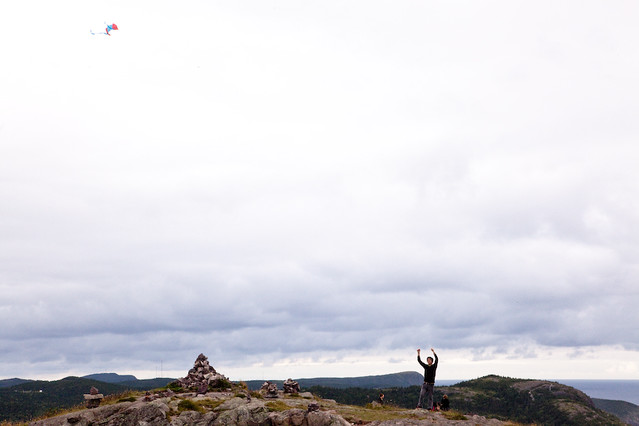 Me flying a kite in NFLD.
