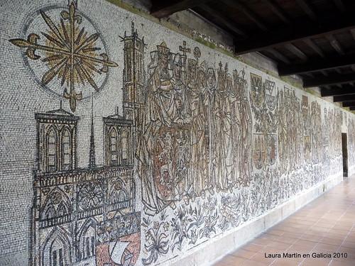 Poio: el camino de santiago mosaico de Antoine Machourek