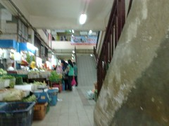Market in Larkin bus terminus