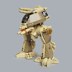 Tiinusu A9 - Ground Type (Fredoichi) Tags: robot lego space military walker micro mecha mech biped microscale fredoichi